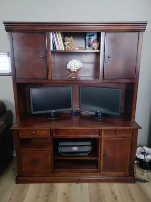 Excellent Office Desk and Hutch - Ashley Furniture for Sale in Carlsbad, CA