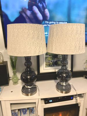 Pair of Lamps with Shades for Sale in Warren, MI