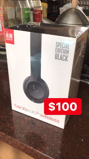 New Beats by Dre Solo 3 wireless Special Black Edition for Sale in Cranford, NJ