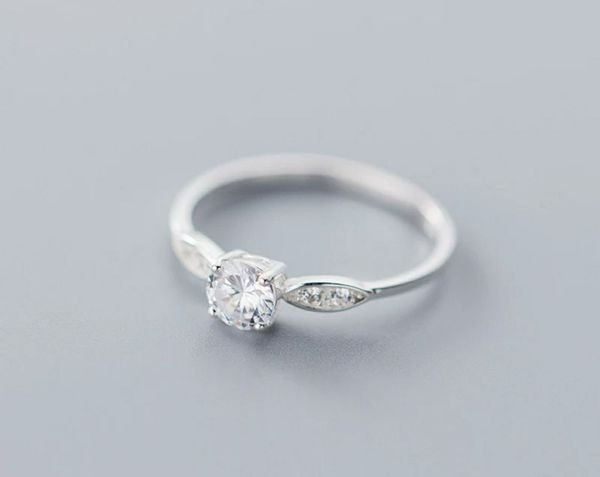 Stamped 925 Sterling Silver AAA Cubic Zirconia Ring