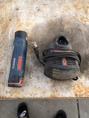 Bosch Flash Light with charger 12v for Sale in Tracy, CA