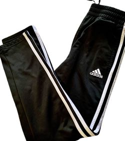 Adidas Black 3 Striped Pants for Sale in Washington,  DC