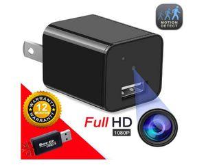 Hidden Camera Spy Camera Charger Full HD 1080P Surveillance Camera Mini Spy Nanny Camera Portable Hidden Cam 2020 for Sale in Rancho Cucamonga, CA