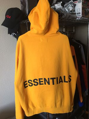 Fear of God Essentials Graphic Pullover Hoodie Yellow for Sale in San Francisco, CA
