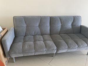 Microfiber sofa futon for Sale in Miami Beach, FL