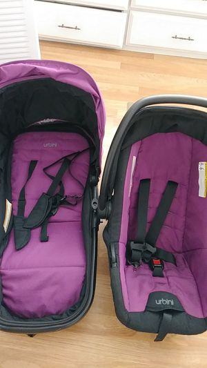 urbibi Car seat plus stroller and bed attachment for Sale in Binghamton, NY