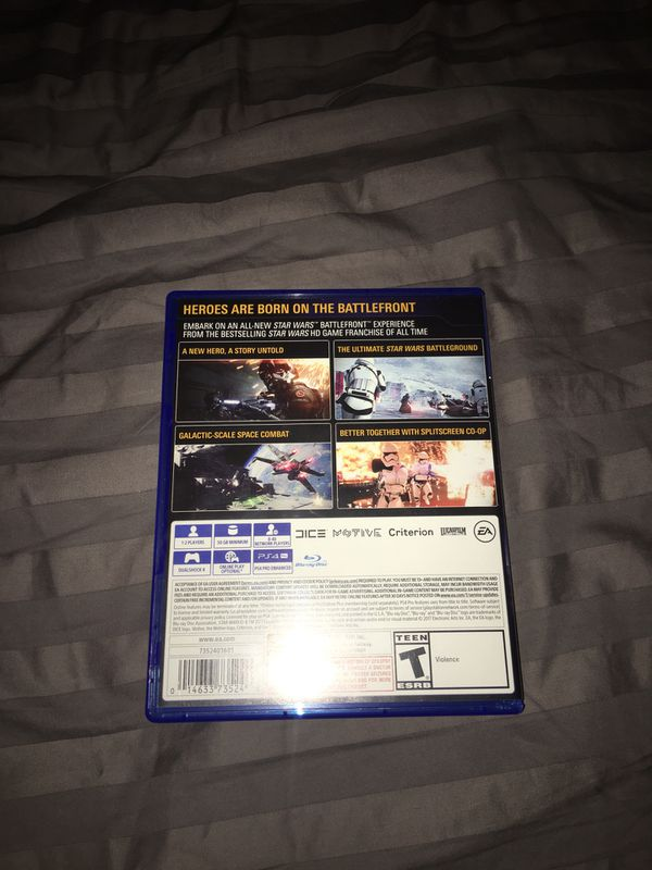 PS4 Game: Star Wars Battlefront 2 ($20 Firm)