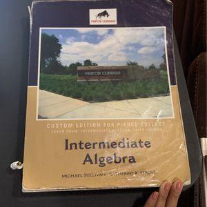 PIERCE COLLEGE STUDENTS INTERMEDIATE ALGEBRA TEXTBOOK for Sale in Los Angeles, CA