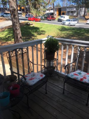 Patio set (2 chairs; table; and plant holder) for Sale in Atlanta, GA