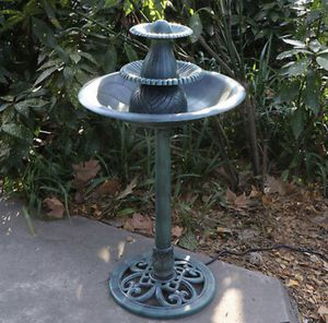 Bird Bath Fountain 3 Tier Pedestal Includes Pump Outdoor Garden Patio for Sale in Laurel, MD