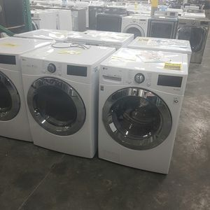 NEW LG Steam Chrome Washer Dryer Front Load for Sale in Chino Hills, CA
