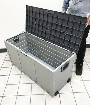"""(NEW) $45 each Plastic Storage Box 70 Gallon Outdoor Durable Plastic Shed Waterproof 44""""x19""""x21"""" for Sale in Whittier, CA"""