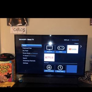 Sharp Smart Roku Tv 43 Inch for Sale in Virginia Beach, VA
