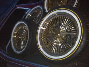 Dayton regal SS impala gold rims no scar .brand new tires for Sale in Joint Base Lewis-McChord, WA