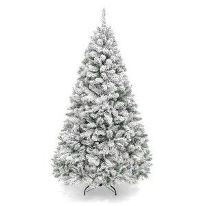 Snow Flocked Hinged Artificial Pine Christmas Tree w/ Metal Stand for Sale in Indianapolis, IN