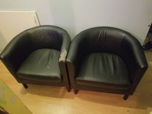 Faux Leather Arm Chair set of 2 for Sale in Renton, WA