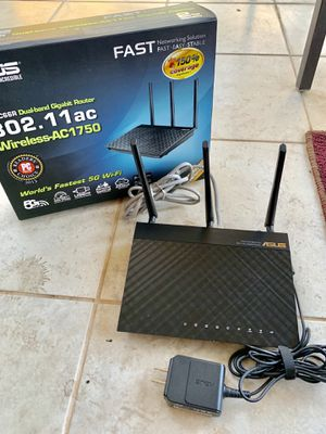 Asus Dual-band Gigabit Router Wireless AC1750 for Sale in Beaumont, CA