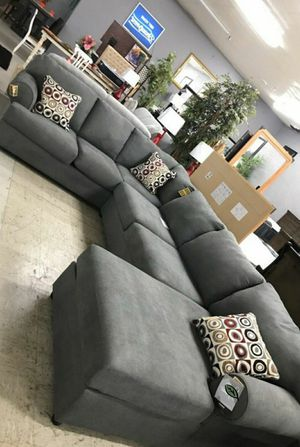 $39 Down Payment Best DEAL 🍾 Jayceon Steel RAF Sectional 59 for Sale in Jessup, MD