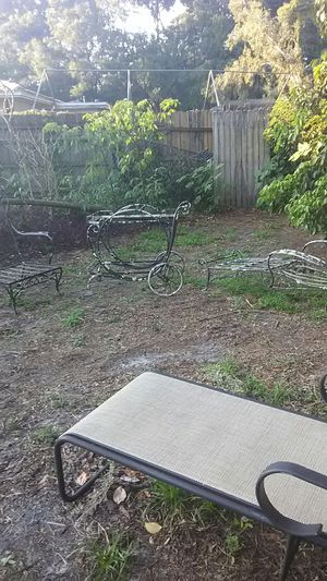 1930 Antique outdoor furniture rod iron for Sale in Tampa, FL