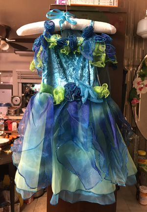 New Green and blue fairy dust costume size 4T for Sale in San Diego, CA