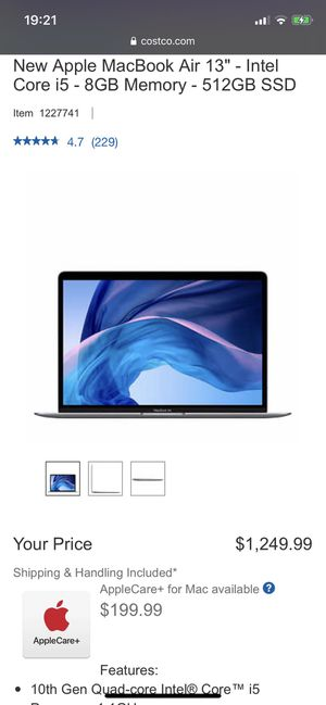 "New Apple MacBook Air 13"" - Intel Core i5 - 8GB Memory - 512GB SSD - Space Gray (MVH22LL/A)(Brand New Unopened/Unboxed) for Sale in San Francisco, CA"
