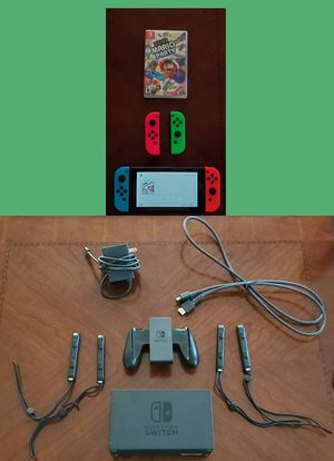 Nintendo Switch V2, extra joycons, Mario Party (firm price) for Sale in Chantilly, VA