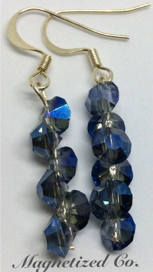 Stunning Blue Diamond Crystal Dangel Earrings for Sale in Independence, OH