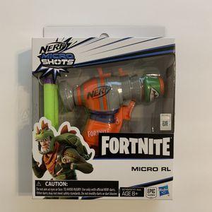 Fornite Micro Shots Nerf Gun - Micro RL #3 Hasbro Epic Games for Sale in Katy, TX
