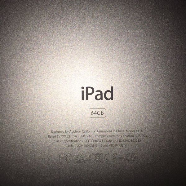 64 gig Apple iPad