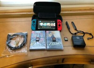 Nintendo Switch Console with Zelda BOTW Super Smash Bros Ultimate Mario used V2 for Sale in Nashville, TN