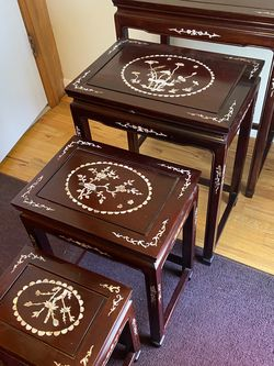Oriental Black Lacquer Nest Tables for Sale in Beaverton,  OR