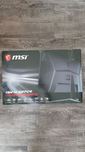 MSI Curved Gaming Monitor - FOR PARTS for Sale in Winter Park, FL
