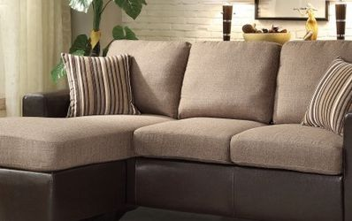 New 👑•Grayish-Brown Reversible Sofa Chaise for Sale in Las Vegas,  NV