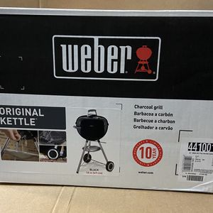 Weber 18 In Kettle Charcoal Grill Black for Sale in Lanham, MD
