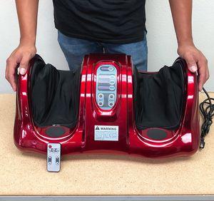 (NEW) $70 Shiatsu Foot Massager Kneading Rolling Leg Calf Ankle w/ Remote Home Health Care for Sale in Montebello, CA