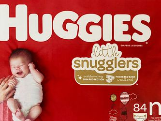 Huggies Little Snugglers Diapers — Size Newborn (84ct) for Sale in Kent,  WA
