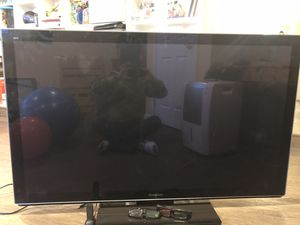 """55"""" Panasonic plasma 3D HDTV with 3D glasses for Sale in Milton, MA"""