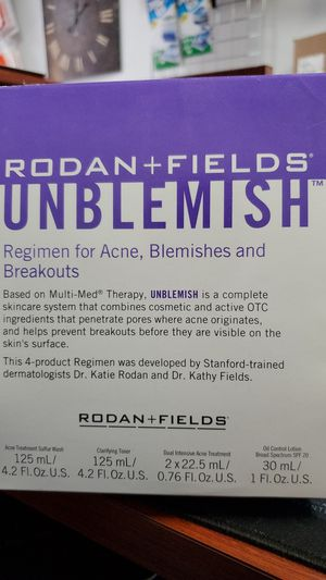 Rodan and + Fields UNBLEMISH Regimen for Acne 4 Piece Full Size Kit NIB for Sale in Beltsville, MD