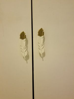 Used, Cabinet knobs, feather knobs for Sale for sale  Clifton, NJ