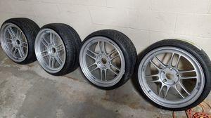 Enkei rpf1 18x9.5 45et new tires 215 35 18 for Sale in Reading, PA