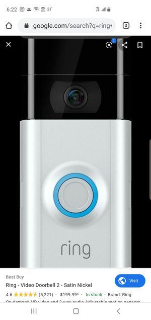 Ring version 2 doorbell for Sale in Detroit, MI