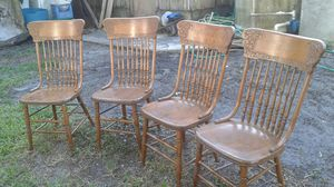 Antique oak dining chairs for Sale in Davie, FL