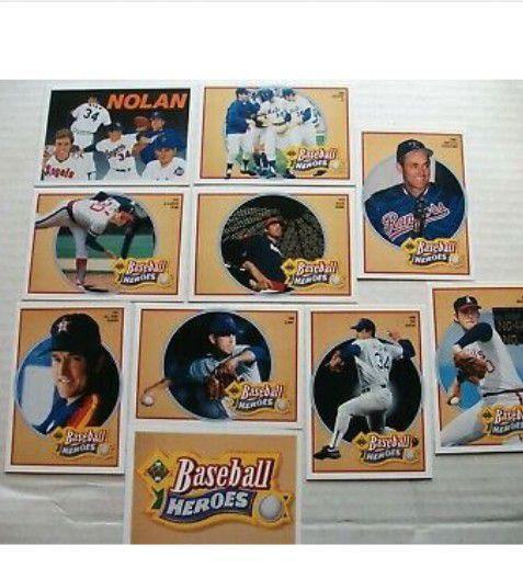 Vintage 1991 Upper Deck NOLAN RYAN - Heroes of Baseball 10 Card SET - NICE