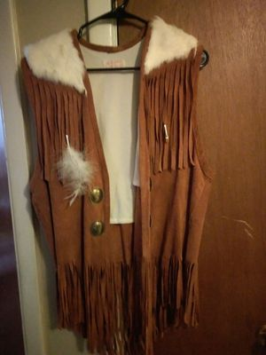 Hand made Native American buckskin vest for Sale in Albuquerque, NM