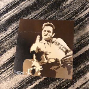 Johnny Cash wooden painting 2' x 2' for Sale in Livonia, MI