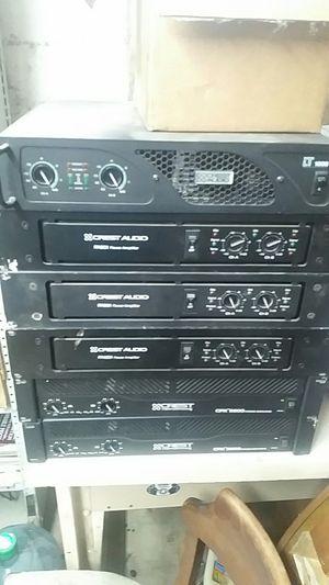 Crest audio amplifiers for Sale in Roanoke, VA
