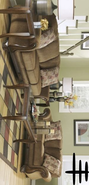 Best Offer and New Brand Montgomery Mocha Living Room Set | 38300 includes SOFA AND LOVESEAT # for Sale in Houston, TX