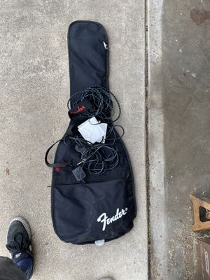Fender bag, fender strap and guitar cords for Sale in San Diego, CA