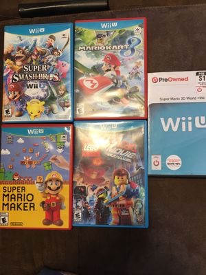 Nintendo Wii U games for Sale in Tacoma, WA