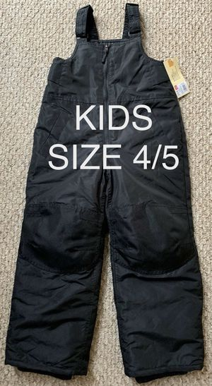 NEW Cherokee Boys Girls Unisex Black Snow Ski Bib Overalls Winter Warm NWT 4/5 for Sale in Danville, CA